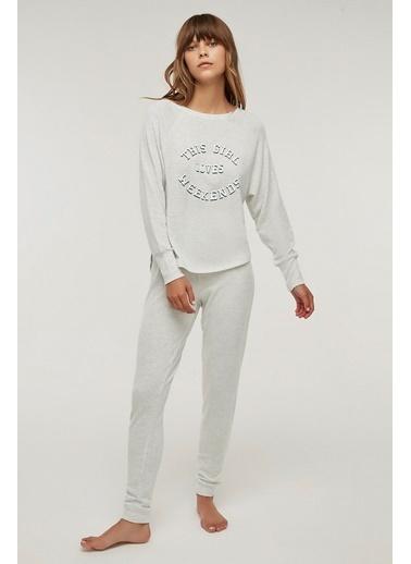 Penti Weekend Pijama Takımı Gri